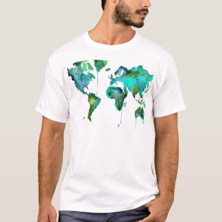 Watercolour world of the map T-Shirt