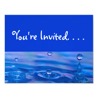Waterdrops 11 Cm X 14 Cm Invitation Card