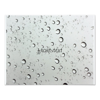 Waterdrops on Glass Background 11 Cm X 14 Cm Invitation Card