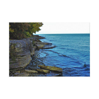 Watered Cliffs Canvas Print