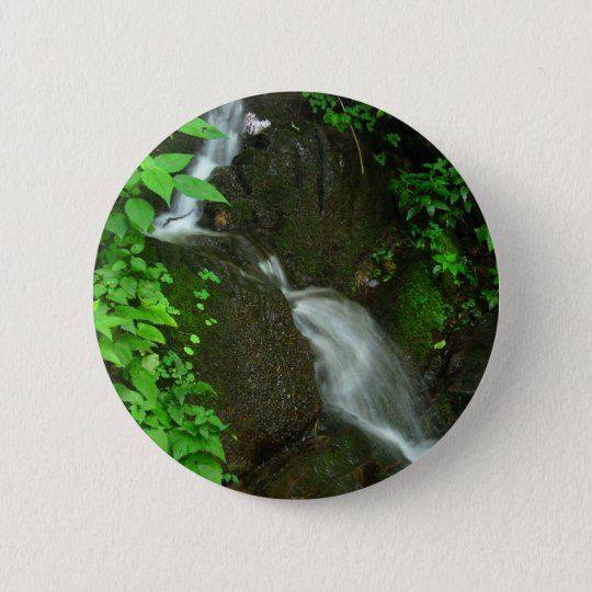Waterfall 6 Cm Round Badge