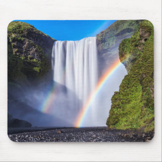 Waterfall and rainbow mouse mat