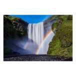 Waterfall and rainbow poster