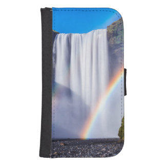 Waterfall and rainbow samsung s4 wallet case