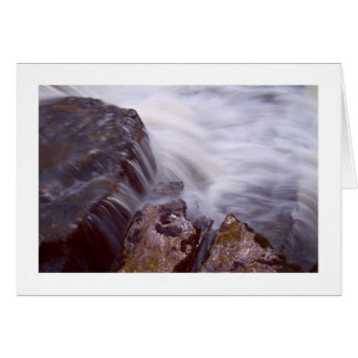 Waterfall and rock study greeting card