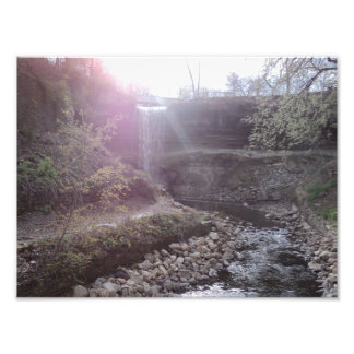waterfall art photo print