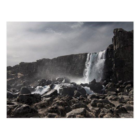 Waterfall at Þingvellir Postcard