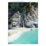 Waterfall at Big Sur Greeting Card