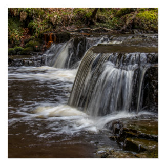 Waterfall at Bowelees, Co. Durham Poster/Print