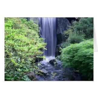 Waterfall at Missouri Botanical Garden Card