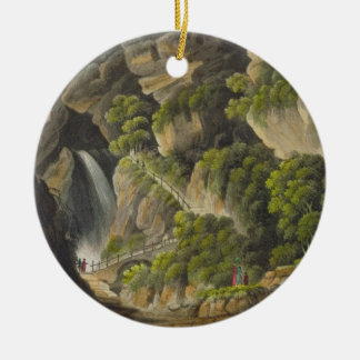 Waterfall at Shanklin, from 'The Isle of Wight Ill Christmas Ornament