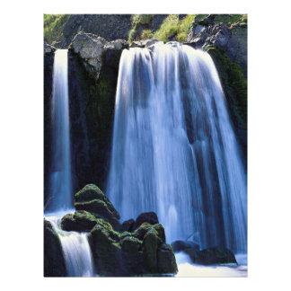 Waterfall at Spekes near Hartland, North Devon, En 21.5 Cm X 28 Cm Flyer