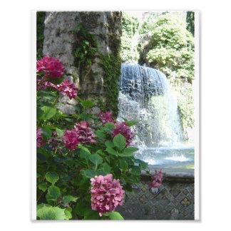 Waterfall at Villa D'Este Photo Art