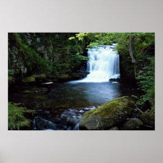 Waterfall at Watersmeet North Devon England Print
