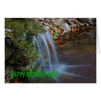 Waterfall Birthday Card