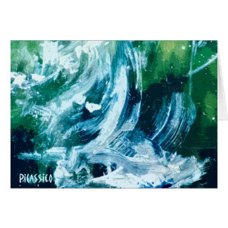 Waterfall Blank Note Card with original art