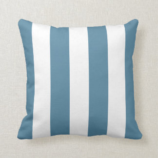 Waterfall Blue and White Striped Throw Pillow
