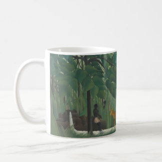 Waterfall by Henri Rousseau, Vintage Impressionism Basic White Mug