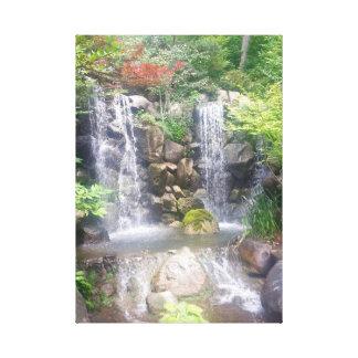 Waterfall Canvas Japanese Garden
