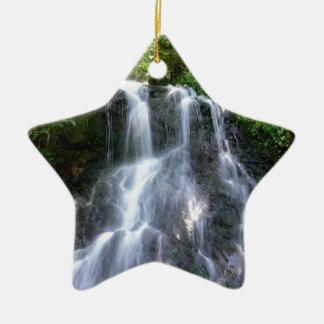 Waterfall Ceramic Star Decoration