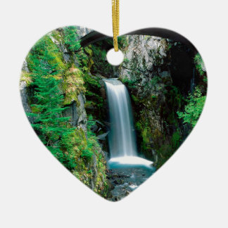 Waterfall Christine Mount Rainier Ceramic Heart Decoration
