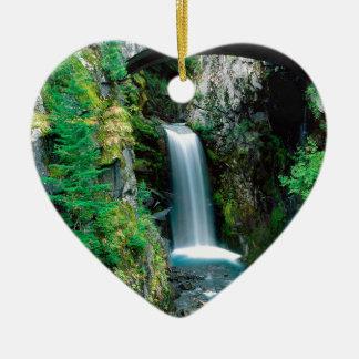 Waterfall Christine Mount Rainier Christmas Ornament