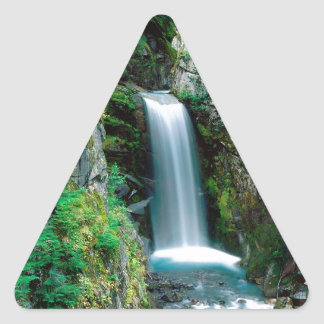 Waterfall Christine Mount Rainier Triangle Sticker