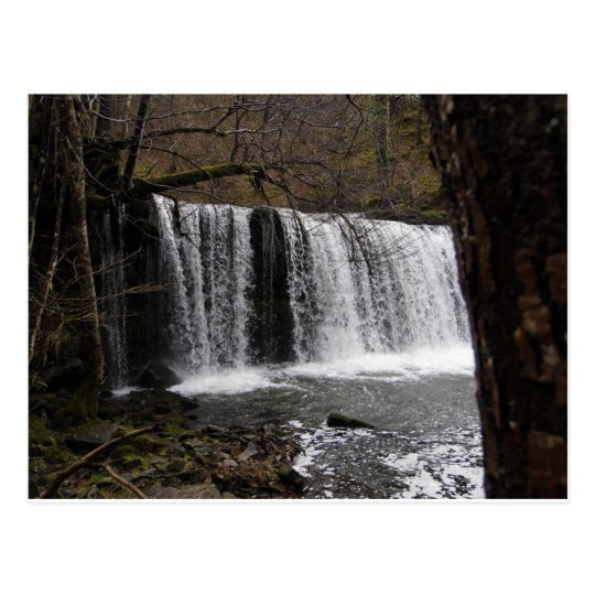 WaterFall country in wales, Brecon beacons Postcard