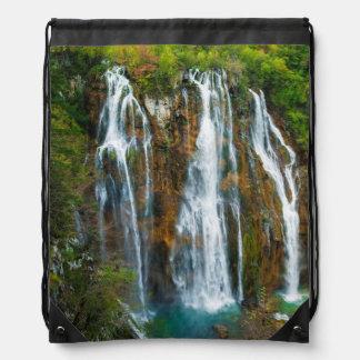 Waterfall elevated view, Croatia Backpacks
