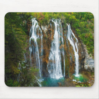 Waterfall elevated view, Croatia Mouse Mat