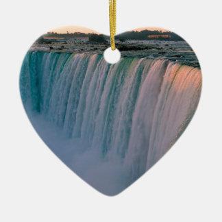 Waterfall Falling Love Niagara Ontario Canada Ceramic Heart Decoration