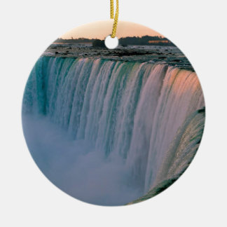 Waterfall Falling Love Niagara Ontario Canada Christmas Ornament