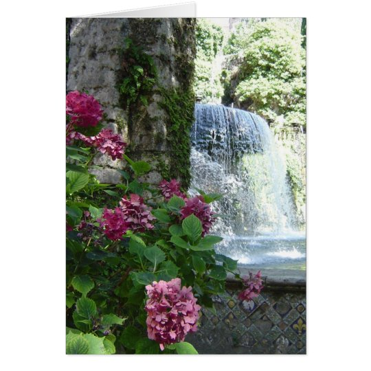 Waterfall floral blank all occasion card