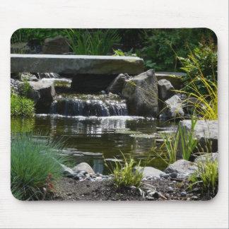 Waterfall Garden Nature Photograph Mouse Mat