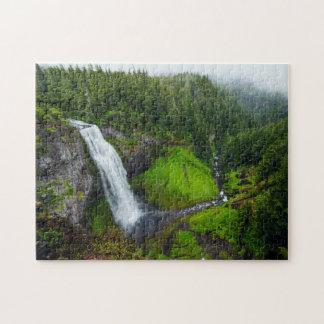 Waterfall green landscape jigsaw puzzle