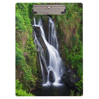 Waterfall, Hamakua coast, Hawaii Clipboard