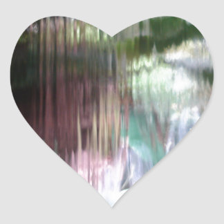 Waterfall Heart Sticker