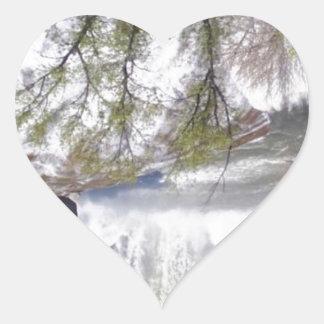 Waterfall Heart Sticker