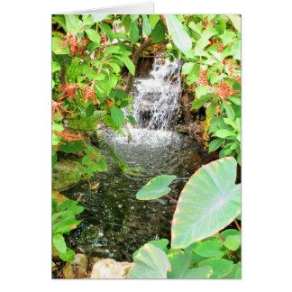 Waterfall Hideaway - Prairie Mile Journeys Greeting Card