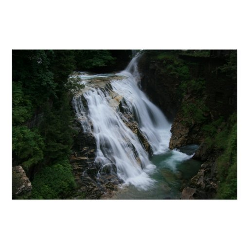 Waterfall in Bad Gastein Poster