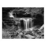 Waterfall in black and white Print