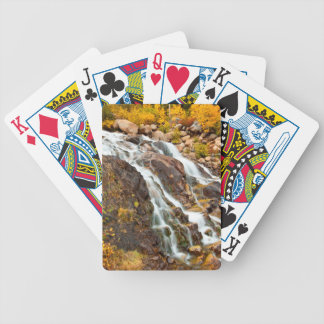 Waterfall In Grand Teton National Park Bicycle Playing Cards