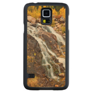Waterfall In Grand Teton National Park Carved Maple Galaxy S5 Case