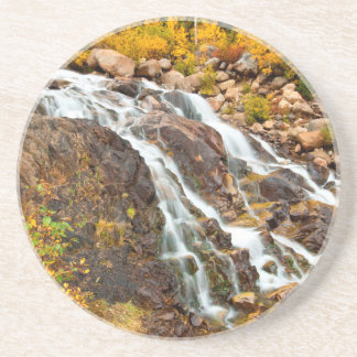 Waterfall In Grand Teton National Park Coaster