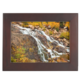 Waterfall In Grand Teton National Park Keepsake Box