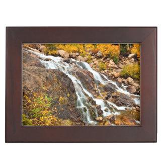 Waterfall In Grand Teton National Park Memory Boxes