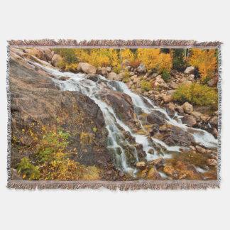 Waterfall In Grand Teton National Park Throw Blanket