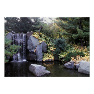 Waterfall in Minnesota Watercolor Version Poster