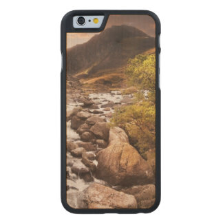 Waterfall In Mountains With Moody Dramatic Carved Maple iPhone 6 Case