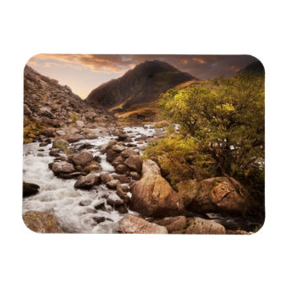 Waterfall In Mountains With Moody Dramatic Magnet